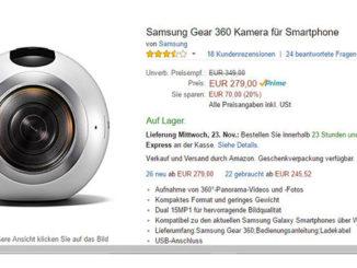 Samsung Gear 360 günstig wie nie